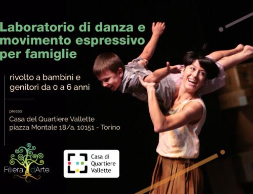 Laboratorio di danza e movimento espressivo per famiglie